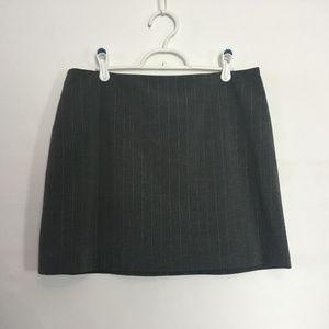 Express Skirt Stretch Gray/Silver Pinstripe 11/12